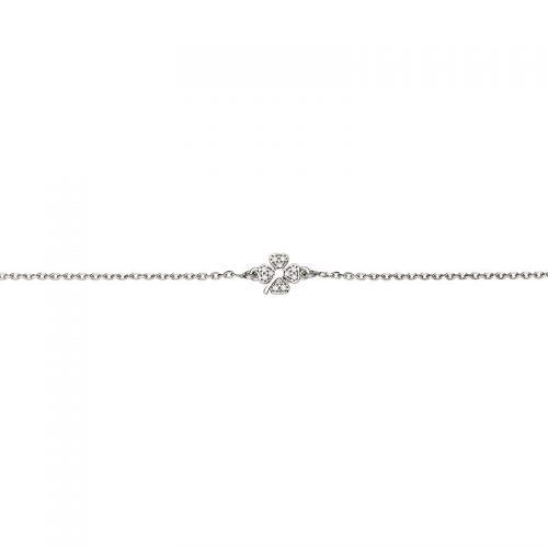 Armband Silber Kleeblatt