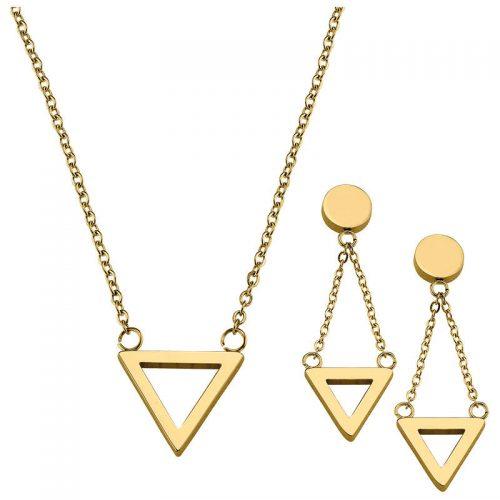 Garnitur Dreieck gold