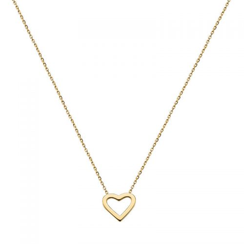 Gelbgold Collier mit Herz