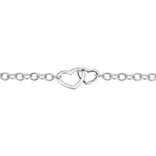 Silber Armband Herzen